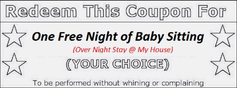 free printable babysitting coupons templates .